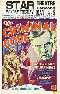 <i>The Criminal Code</i> 1931 film by Howard Hawks