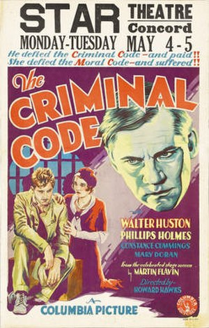 The Criminal Code - theatrical poster