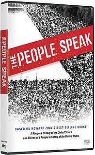 <i>The People Speak</i> (film) 2009 American film directed by Howard ZinnChris MooreAnthony Arnove