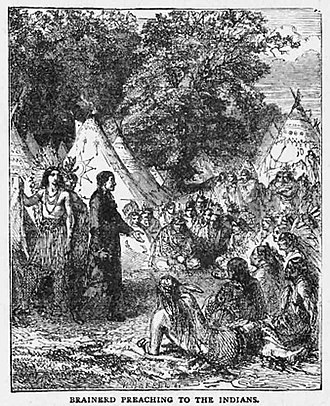 David Brainerd - Brainerd preaching in the open-air to Native Americans.