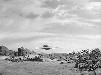 Death Ship (The Twilight Zone) - Cruiser E-89 about to land