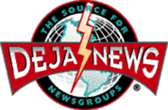 Google Groups - The Deja News logo as it appeared in 1997