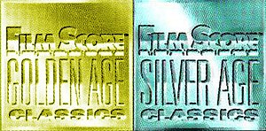 Film Score Monthly - Silver Age Classics and Golden Ages Classics logos used for albums released under the Film Score Monthly banner
