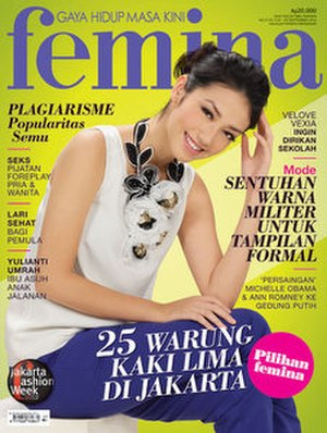 Femina (Indonesia) - September 2012 cover of Femina