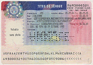 Immigration to France - A French residence permit issued to non-EU citizens