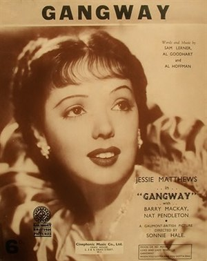 Gangway (film) - Sheet music cover
