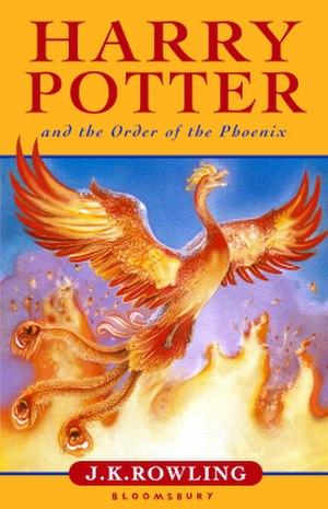 Harry Potter and the Order of the Phoenix - Cover art of the original UK edition