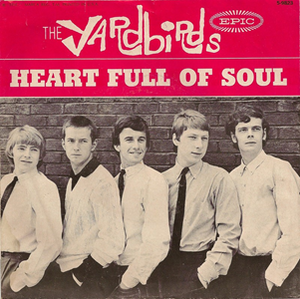 Heart Full of Soul - 1965 US single picture sleeve with Eric Clapton