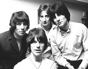 The Jeff Beck Group - The Jeff Beck Group in 1967. Front: Jeff Beck. Rear (from left): Aynsley Dunbar, Rod Stewart, Ron Wood