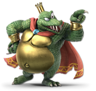 King K. Rool fictional character from the Donkey Kong series