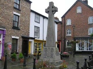 Llanfyllin market town in Powys, Wales