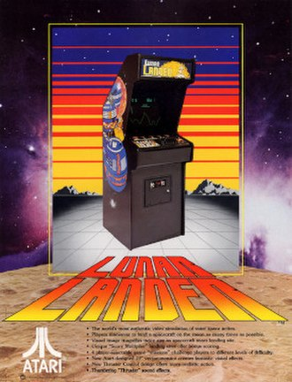 Lunar Lander (1979 video game) - Advertising flyer for the game