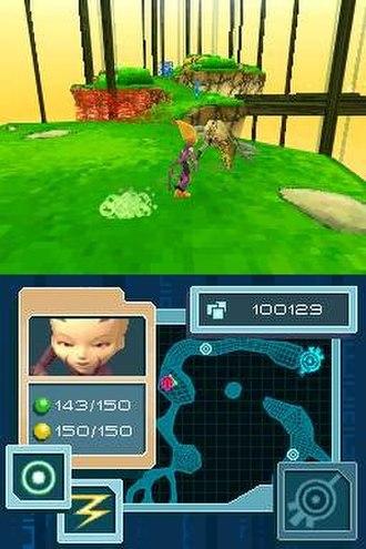 Code Lyoko (video game) - A screenshot of a 3D part of the Code Lyoko video game.
