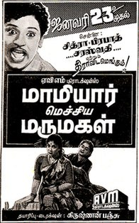 <i>Mamiyar Mechina Marumagal</i> 1959 film by Krishnan-Panju
