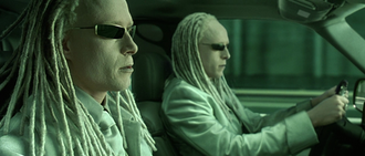 Twins (The Matrix) - Neil Rayment and Adrian Rayment as the Twins in The Matrix Reloaded