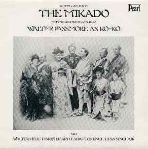 Walter Passmore - 1907 Mikado recording