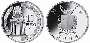 Also used in Maltese euro coins, Euro gold and...