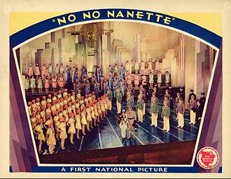 No, No, Nanette (1930 film) - Lobby card