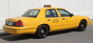 A New York City taxicab old branding.