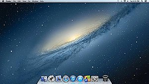OS X Mountain Lion - Image: OS X Mountain Lion Screenshot