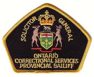 Ontario Provincial Bailiff Shoulder Flash