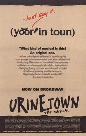 Urinetown - Original Broadway poster art