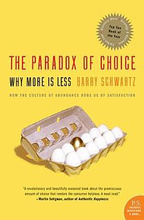 <i>The Paradox of Choice</i> book by Barry Schwartz