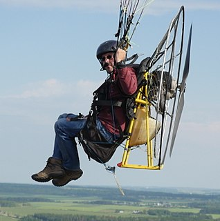 Paramotor powered paraglider