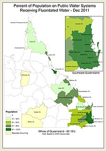 Queensland Residents Served With Community Water Fluoridation 2011
