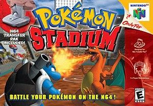 Pokémon Stadium - North American box art showing Blastoise (left) and Charizard (right)