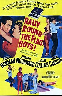 <i>Rally Round the Flag, Boys!</i> 1958 film by Leo McCarey
