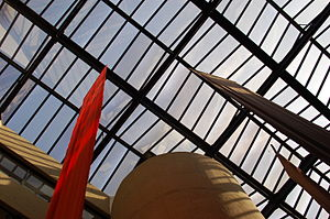 Walter P. Reuther Library - A view of in Reuther's interior, from the atrium.