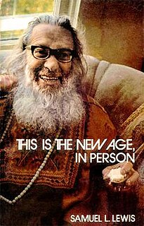 Samuel L. Lewis American Sufi and Buddhist mystic
