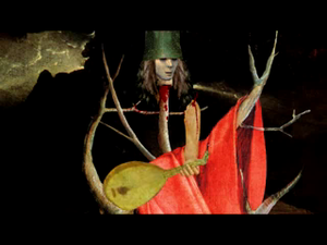 The Cuckoo Clocks of Hell - Stylized image of Buckethead in the song's video clip
