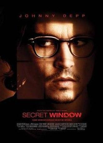 Secret Window - Theatrical release poster