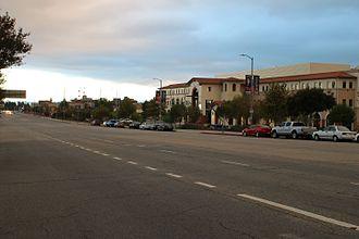 Sepulveda Boulevard - Sepulveda Boulevard near its northern terminus at Rinaldi Street