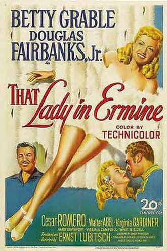 That Lady in Ermine - Original poster