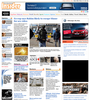 The Malaysian Insider - Image: The malaysian insider screenshot