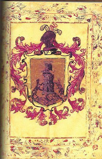 Juan de la Cámara - Coat of Arms of the de la Cámara family