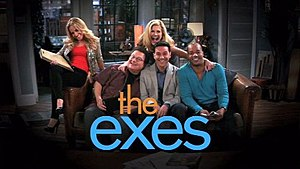 The Exes - Season 1 and 3 intertitle for The Exes featuring the main cast