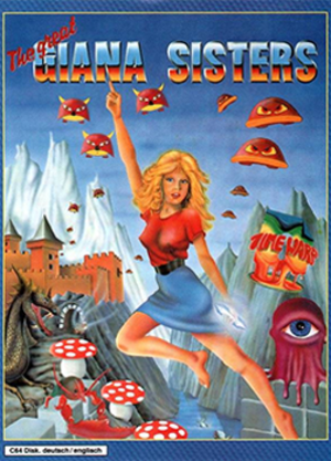 The Great Giana Sisters - Cover art of The Great Giana Sisters for the C64
