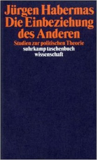 The Inclusion of the Other - Cover of the German edition