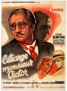 <i>The Strange Monsieur Victor</i> 1938 French film directed by Jean Grémillon