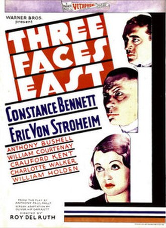 Three Faces East (1930 film) - theatrical releaseposter