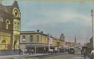 South Yarra, Victoria - Toorak Road looking west from the railway station in 1906