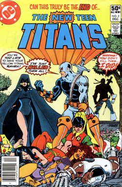 Cover to New Teen Titans #2, the original Ravager's first appearance.