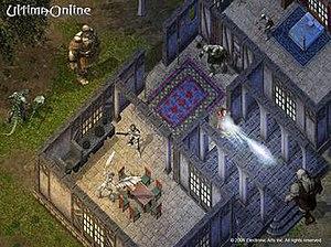 Magic circle (virtual worlds) - Early virtual world: Ultima Online