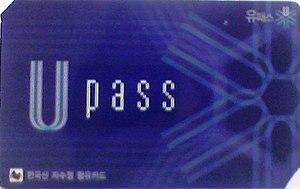 Upass - Image: Upass card