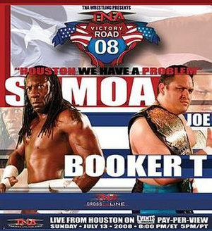 Victory Road (2008) - Promotional poster for the event featuring Booker T and Samoa Joe