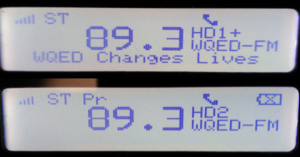 WQED-FM - WQED's HD Radio channels on a SPARC Radio with PSD.